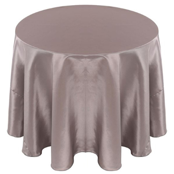 Solid Bengaline Textured Tablecloth Linen-Silver