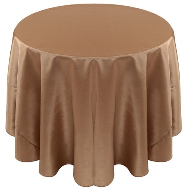 Solid Bengaline Textured Tablecloth Linen-Walnut