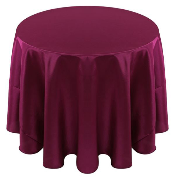 Solid Bengaline Textured Tablecloth Linen-Wine