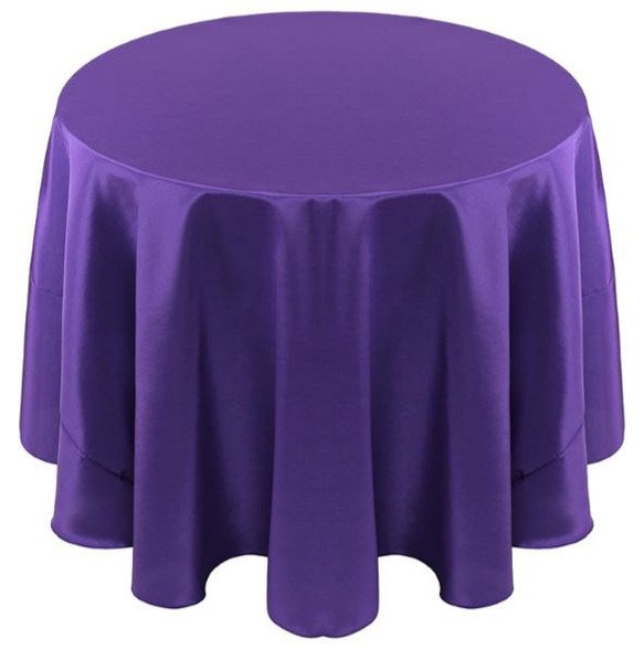 Solid Bengaline Textured Tablecloth Linen-Wood Violet