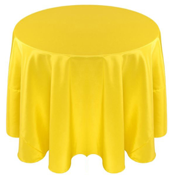 Solid Bengaline Textured Tablecloth Linen-Yellow