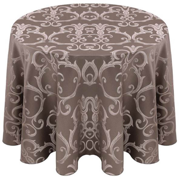 Chopin Damask Tablecloth Linen-Silver