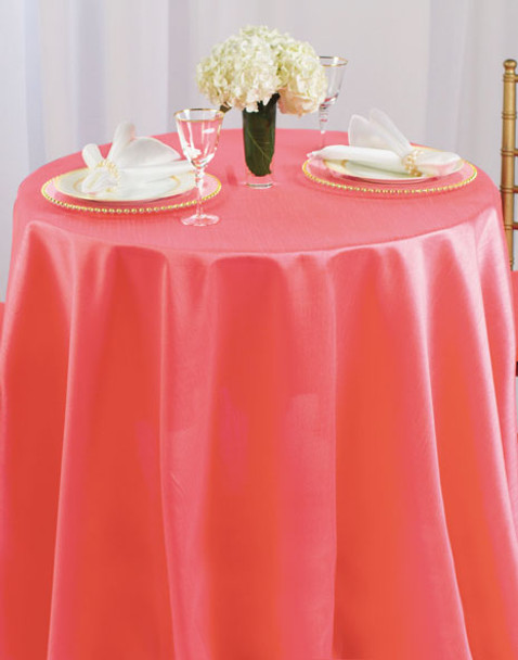 Faux Dupioni Polyester Based Tablecloth Linen