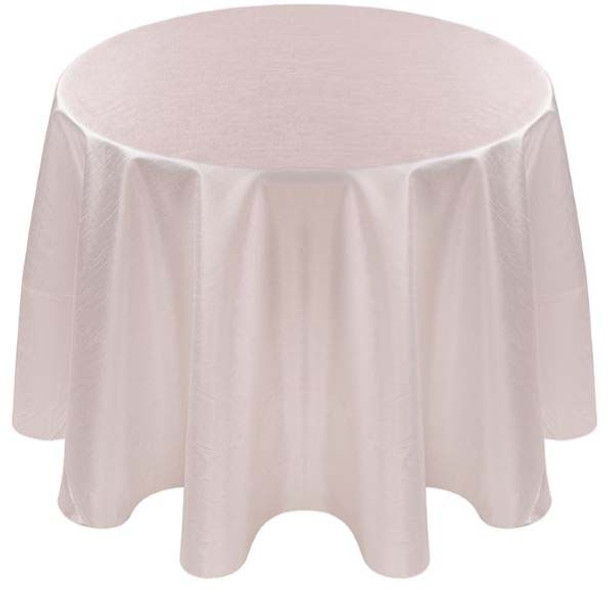 Faux Dupioni Polyester Based Tablecloth Linen-White
