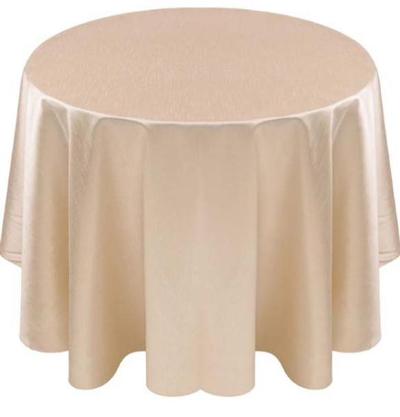 Faux Dupioni Polyester Based Tablecloth Linen-Ivory