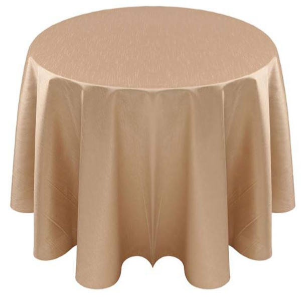 Faux Dupioni Polyester Based Tablecloth Linen-Cognac Caprice