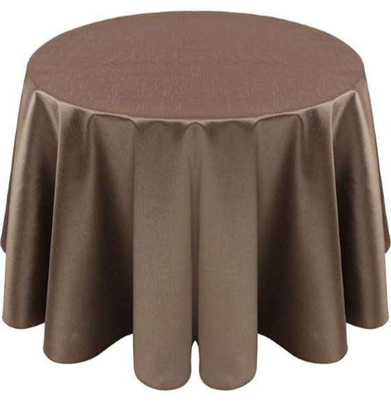 Faux Dupioni Polyester Based Tablecloth Linen-Khaki