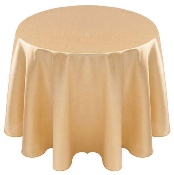 Faux Dupioni Polyester Based Tablecloth Linen-Gold
