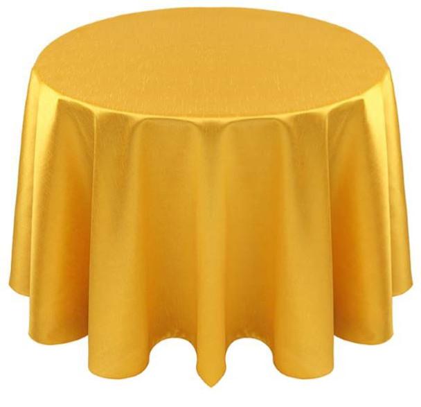 Faux Dupioni Polyester Based Tablecloth Linen-Lemon