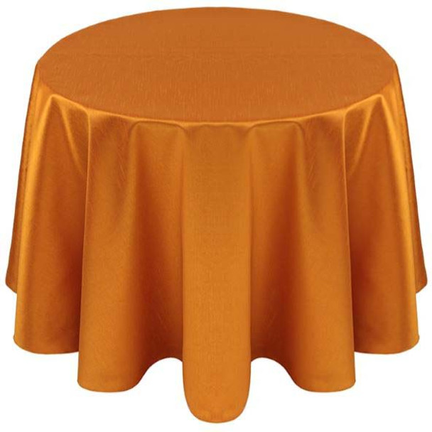 Faux Dupioni Polyester Based Tablecloth Linen-Orange