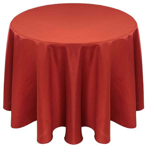 Faux Dupioni Polyester Based Tablecloth Linen-Burnt Orange