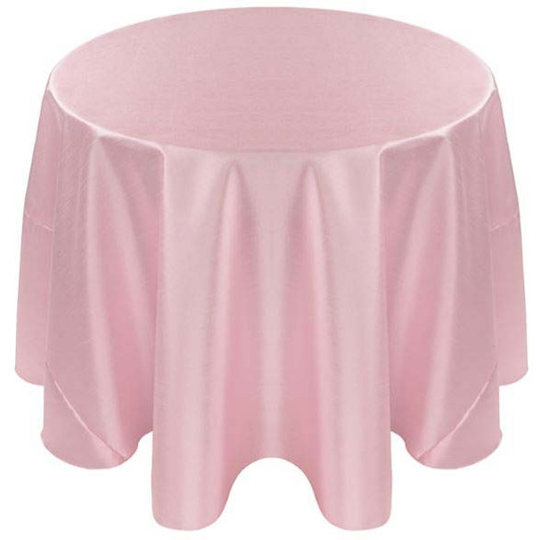 Faux Dupioni Polyester Based Tablecloth Linen-Light Pink