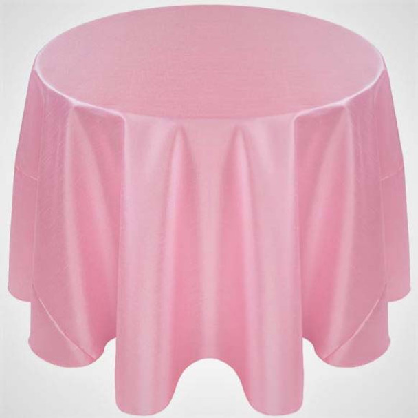 Faux Dupioni Polyester Based Tablecloth Linen-Pink