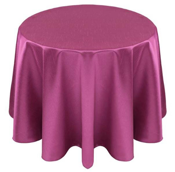 Faux Dupioni Polyester Based Tablecloth Linen-Magenta