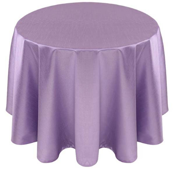 Faux Dupioni Polyester Based Tablecloth Linen-Lilac