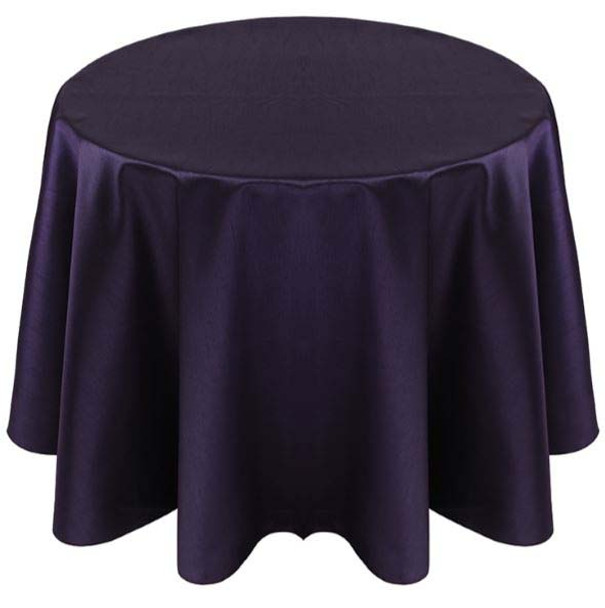 Faux Dupioni Polyester Based Tablecloth Linen-Purple