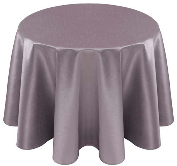 Faux Dupioni Polyester Based Tablecloth Linen-Grey