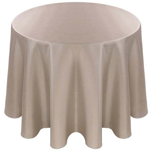 Faux Dupioni Polyester Based Tablecloth Linen-Platinum