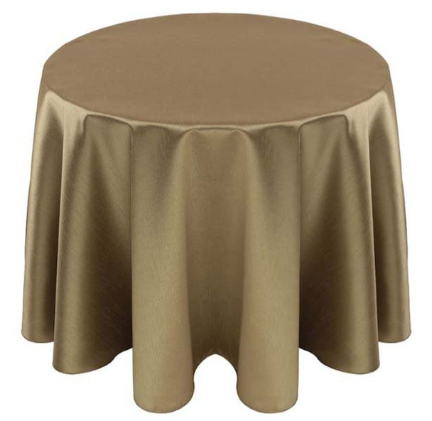Faux Dupioni Polyester Based Tablecloth Linen-Olive