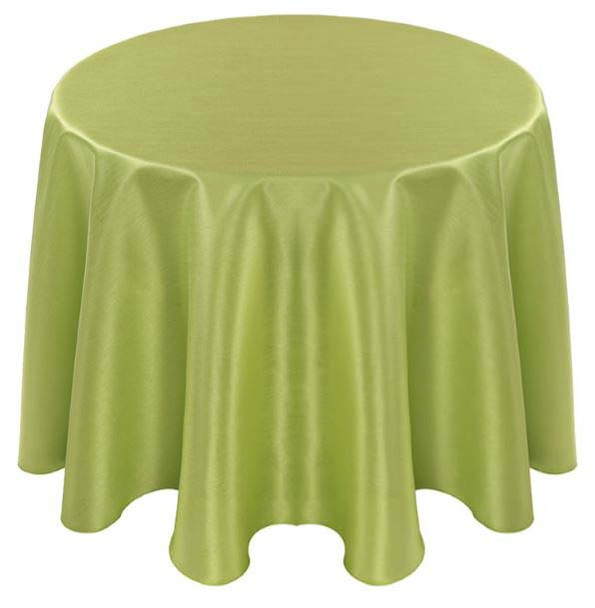 Faux Dupioni Polyester Based Tablecloth Linen-Apple