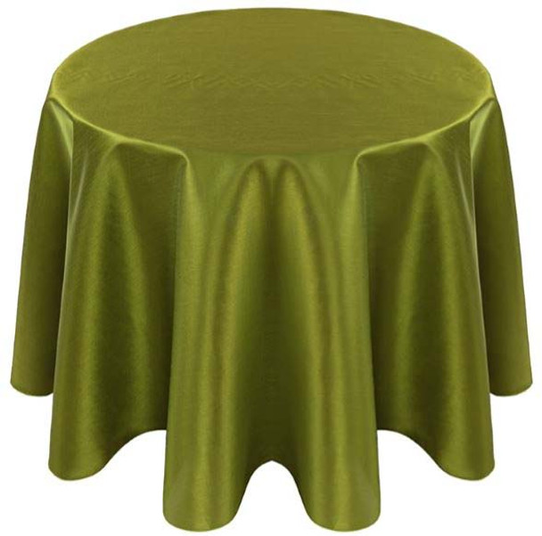Faux Dupioni Polyester Based Tablecloth Linen-Chartreuse