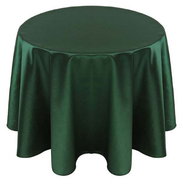 Faux Dupioni Polyester Based Tablecloth Linen-Hunter
