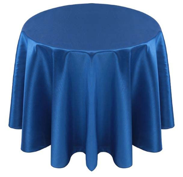 Faux Dupioni Polyester Based Tablecloth Linen-Royal