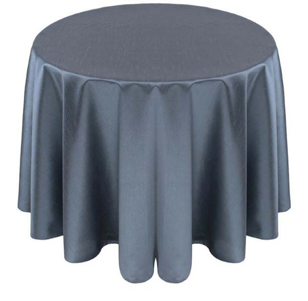 Faux Dupioni Polyester Based Tablecloth Linen-Slate