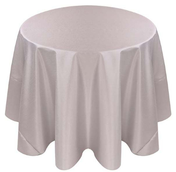 Faux Dupioni Polyester Based Tablecloth Linen-Silver