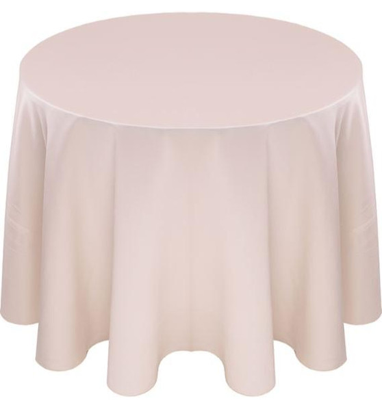 Matte Satin Tablecloth Linen-Ivory