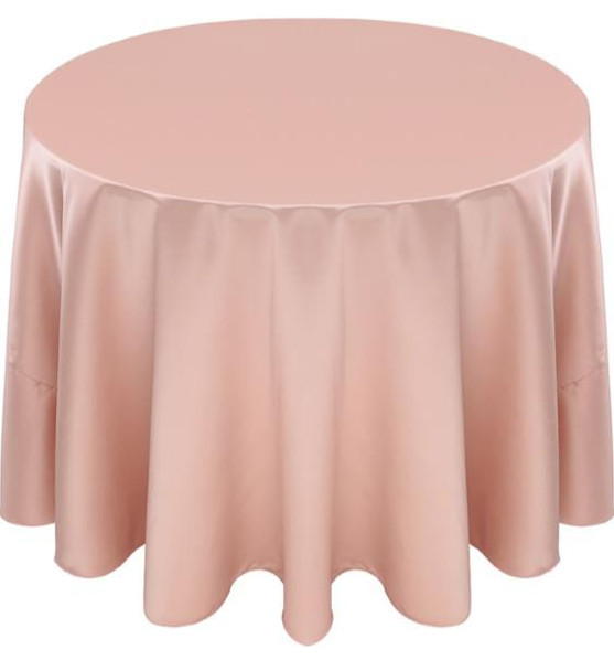 Matte Satin Tablecloth Linen-Champagne