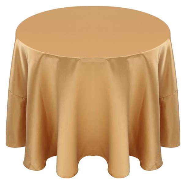Matte Satin Tablecloth Linen-Gold