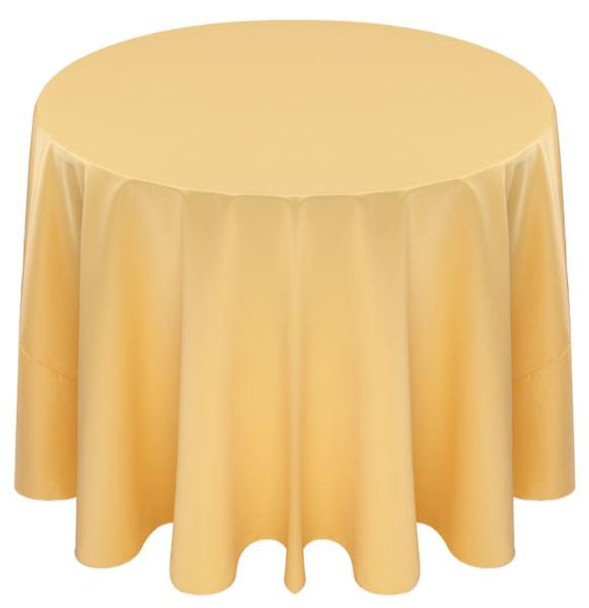 Matte Satin Tablecloth Linen-Canary Yellow