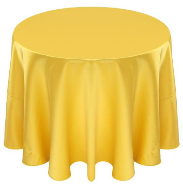 Matte Satin Tablecloth Linen-Rio Maize
