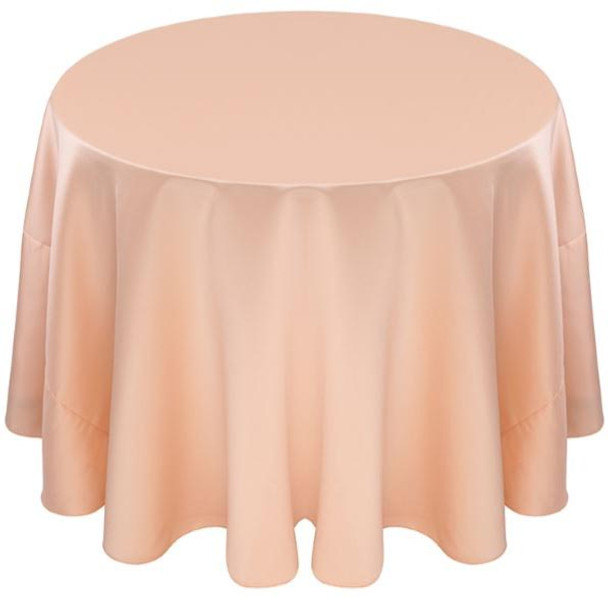 Matte Satin Tablecloth Linen-Peach