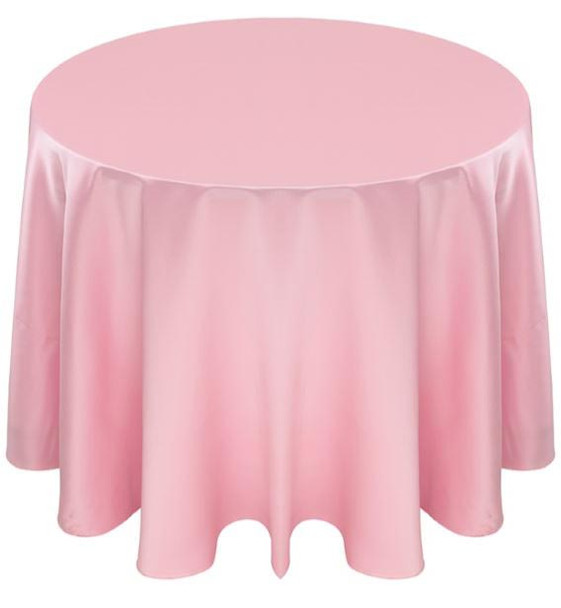 Matte Satin Tablecloth Linen-Powder Pink