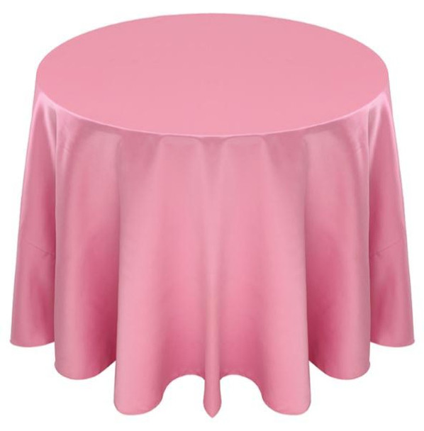 Matte Satin Tablecloth Linen-Pink
