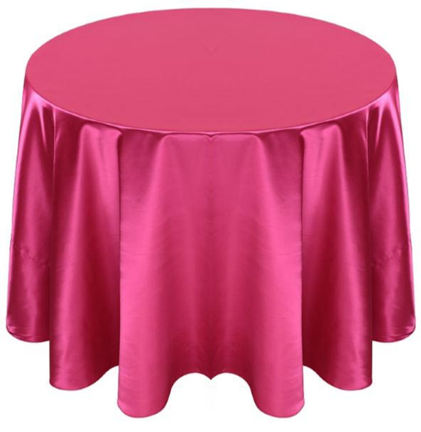 Matte Satin Tablecloth Linen-Fuchsia