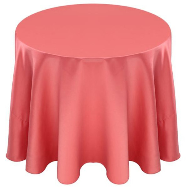 Matte Satin Tablecloth Linen-Coral