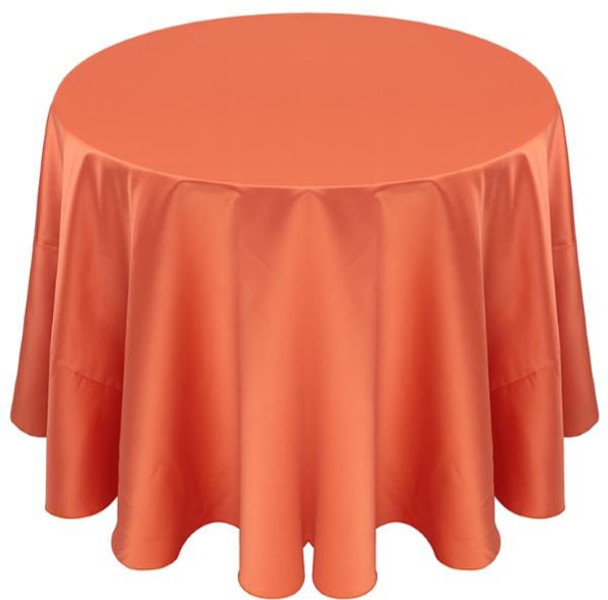Matte Satin Tablecloth Linen-Papaya