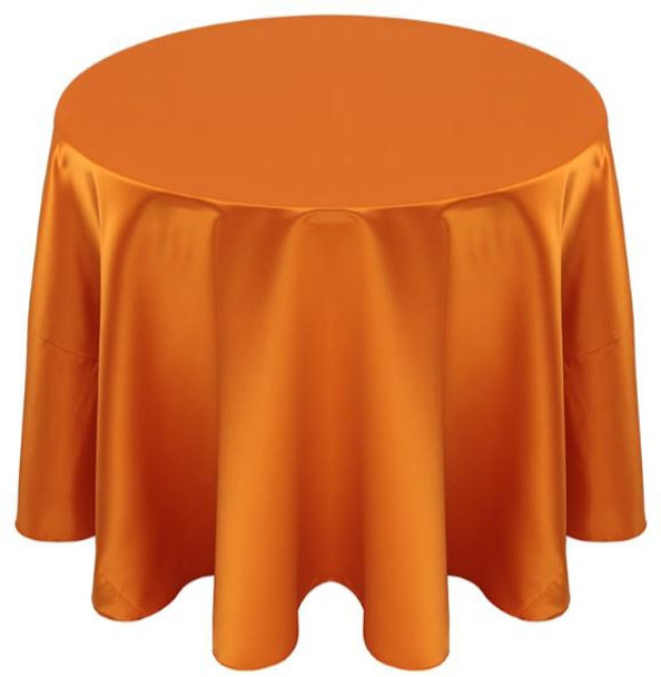 Matte Satin Tablecloth Linen-Pumpkin