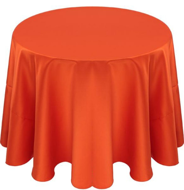 Matte Satin Tablecloth Linen-Tiger Lily