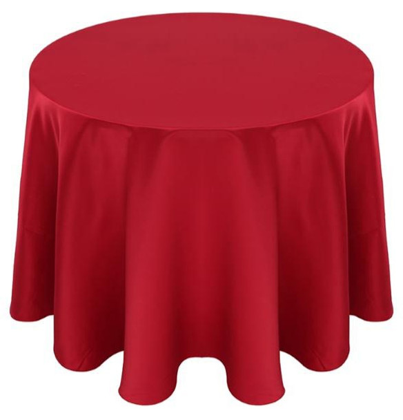 Matte Satin Tablecloth Linen-Red