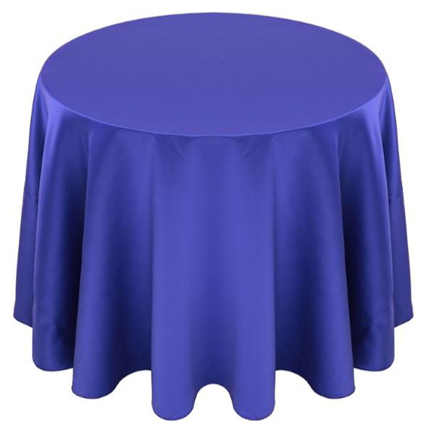 Matte Satin Tablecloth Linen-Purple