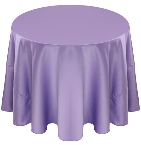 Matte Satin Tablecloth Linen-Lilac