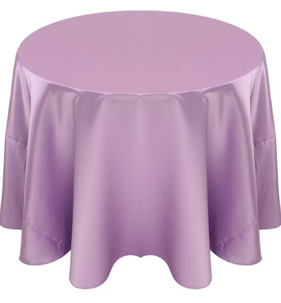 Matte Satin Tablecloth Linen-Lavender