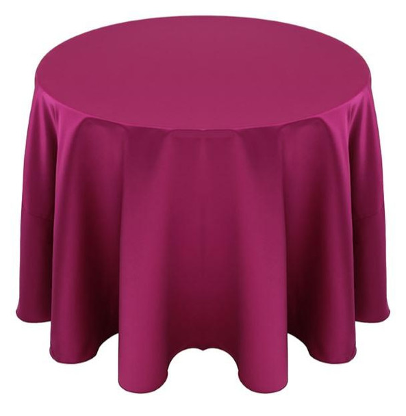 Matte Satin Tablecloth Linen-Magenta