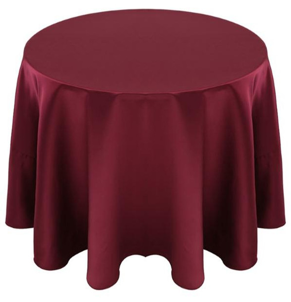 Matte Satin Tablecloth Linen-Burgundy