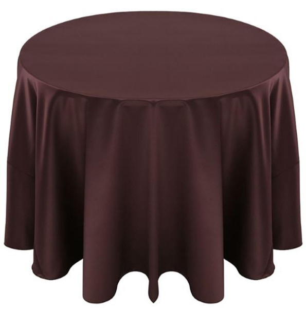 Matte Satin Tablecloth Linen-Brown