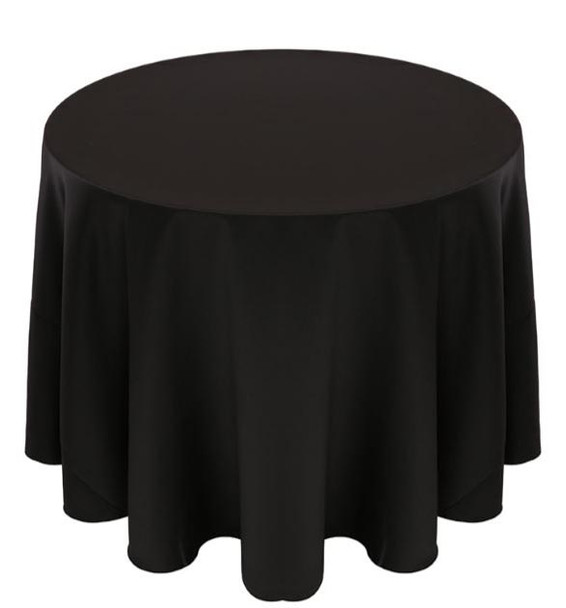 Matte Satin Tablecloth Linen-Black